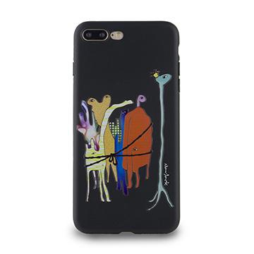 iPhone 7 Plus-小資族淺浮雕保護背套_太空黑