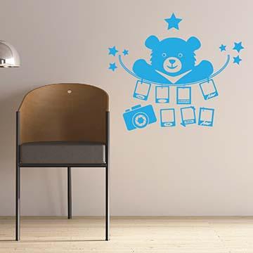 【Smart Design】創意無痕壁貼◆大熊的回憶(八色可選)