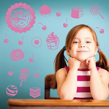 【Smart Design】創意無痕壁貼◆ CandyWorld(八色可選)