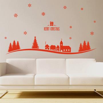 【Smart Design】創意無痕壁貼◆聖誕雪花(八色可選)