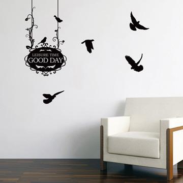Smart Design 創意無痕壁貼◆小鳥招牌 ( 8色)