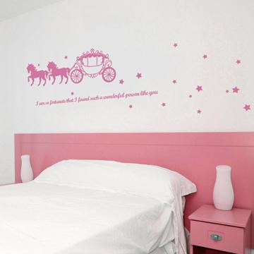 Smart Design 創意無痕壁貼◆夢幻馬車( 8色)