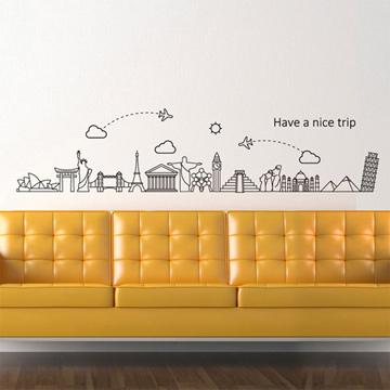 【Smart Design】創意無痕壁貼◆旅行時光(八色可選)