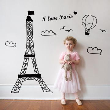 【Smart Design】創意無痕壁貼◆我愛巴黎(八色可選)
