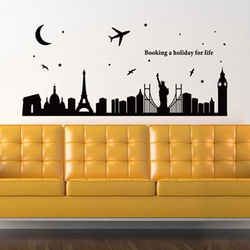 【Smart Design】創意無痕壁貼◆城市夜晚 8色可選