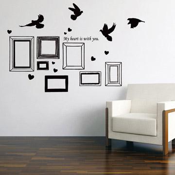 【Smart Design】創意無痕壁貼◆回億相框(八色可選)