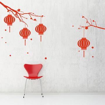 【Smart Design】創意無痕壁貼◆燈籠高高掛(八色可選)