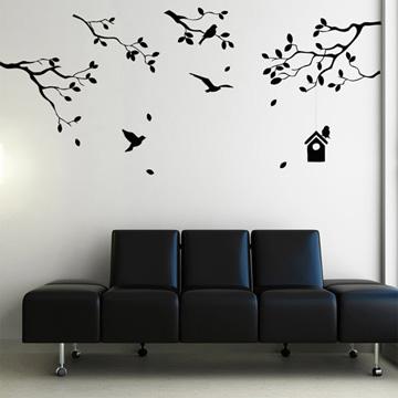 【Smart Design】創意無痕壁貼◆鳥兒與樹 (8色可選)