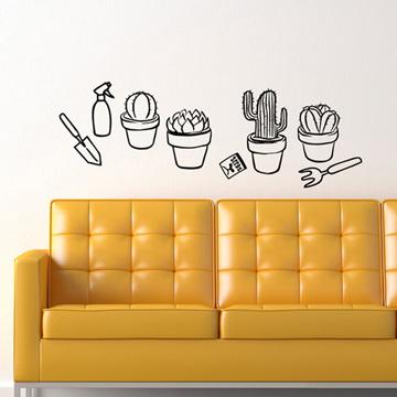 Smart Design 創意無痕壁貼◆療癒小盆栽( 8色)