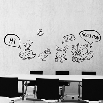 【Smart Design】創意無痕壁貼◆動物同樂會 (8色可選)
