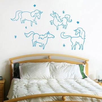 【Smart Design】創意無痕壁貼◆獨角獸的聚會 (8色可選)