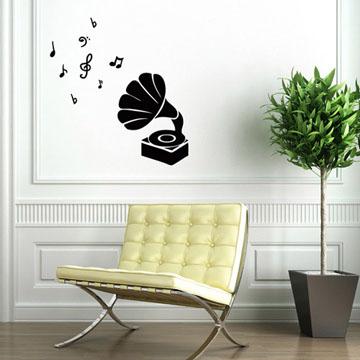 Smart Design 創意無痕壁貼◆古典留聲機( 8色)