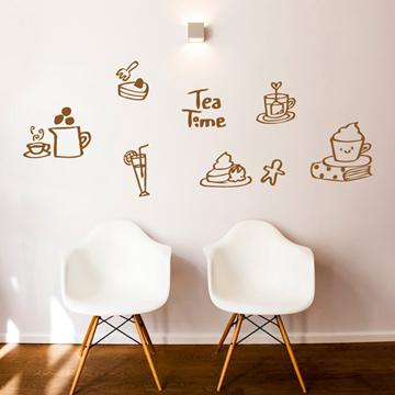 Smart Design 創意無痕壁貼◆午茶時光( 8色)