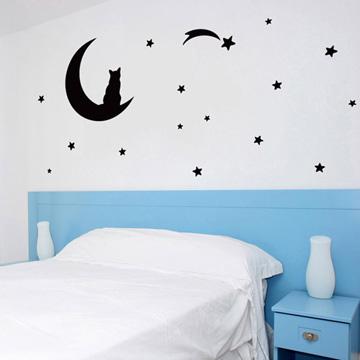 Smart Design 創意無痕壁貼◆月夜貓咪( 8色)