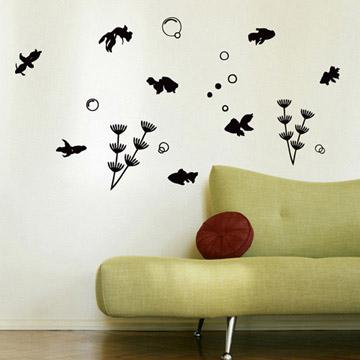 Smart Design 創意無痕壁貼◆金魚悠遊( 8色)