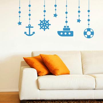 Smart Design 創意無痕壁貼◆海洋吊飾( 8色)