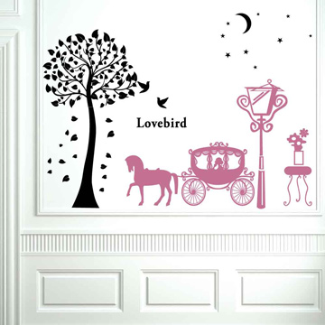 Smart Design 創意無痕壁貼◆浪漫馬車 ( 8色)