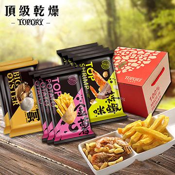 【TOPDRY 頂級乾燥】爵士禮盒 <一蚵2入+金薯C3入+蒜蝦咪4入>
