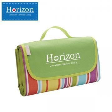 【Horizon 天際線】防潮沙灘野餐墊 - 附防水收納袋 ( 彩虹綠 )