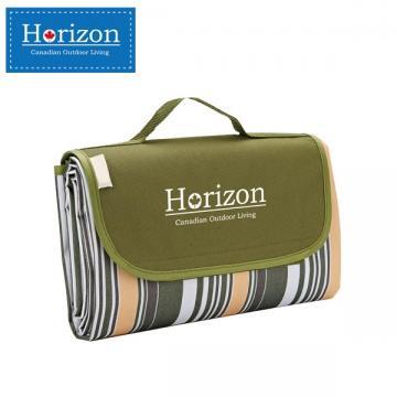 【Horizon 天際線】防潮沙灘野餐墊 - 附防水收納袋 ( 軍裝綠 )