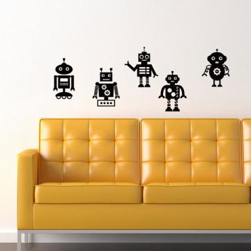 Smart Design 創意無痕壁貼◆懷舊機器人( 8色)