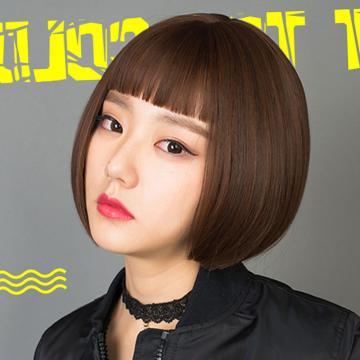 【MB341】韓系高仿真 自由分線 這個殺手不太冷同款 俏麗 短髮