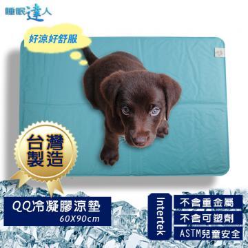 【睡眠達人】QQ冷凝膠寵物涼墊涼蓆(60x90cm*1件),夏月節電,抗暑必備,台灣專利+製造 ★2017年升級新現貨