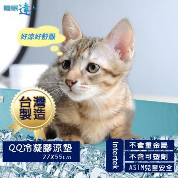 【睡眠達人】QQ冷凝膠寵物涼墊(55x27cm*1),夏月節電,抗暑必備,台灣專利+製造 ★2017年升級新現貨