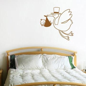 Smart Design 創意無痕壁貼◆嬰兒與送子鳥( 8色)