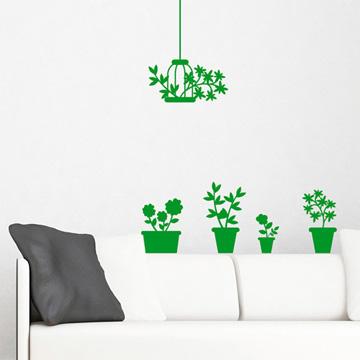 Smart Design 創意無痕壁貼◆小品盆栽( 8色)