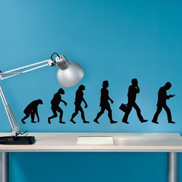 Smart Design 創意無痕壁貼◆人類進化史( 單色)