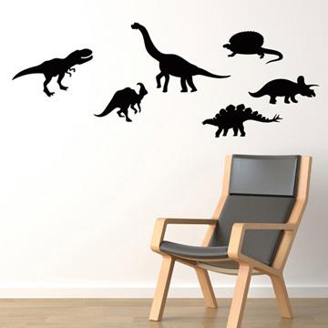 Smart Design 創意無痕壁貼◆恐龍世界( 8色)