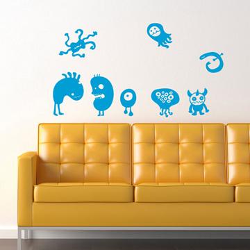 Smart Design 創意無痕壁貼◆怪獸好朋友( 8色)