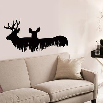 Smart Design 創意無痕壁貼◆鹿與大自然( 8色)