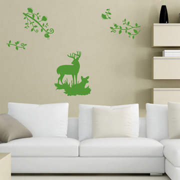Smart Design 創意無痕壁貼◆鹿與森林( 8色)