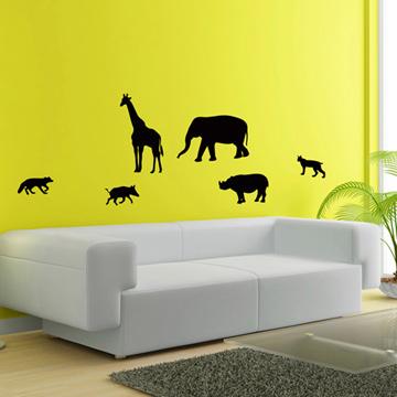 Smart Design 創意無痕壁貼◆野生動物( 8色)