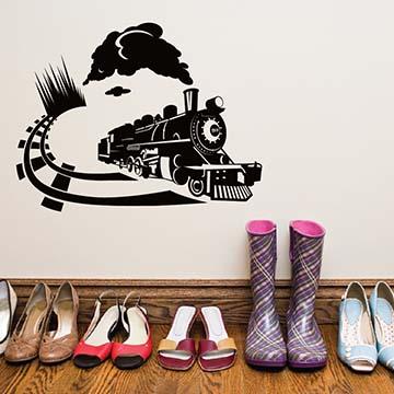 Smart Design 創意無痕壁貼◆火車來了( 8色)