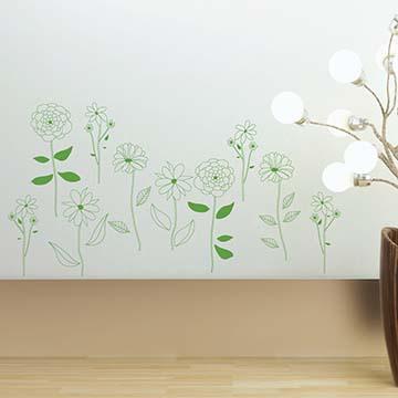【Smart Design】創意無痕壁貼◆小花在路邊(八色可選)