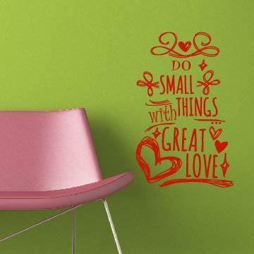 Smart Design 創意無痕壁貼◆愛的標語( 8色)