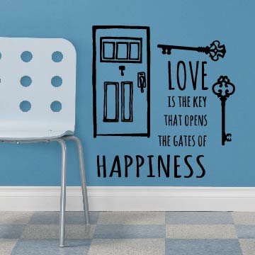 Smart Design 創意無痕壁貼◆敲開幸福門( 8色)