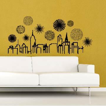 Smart Design 創意無痕壁貼◆絢爛夜景( 8色)
