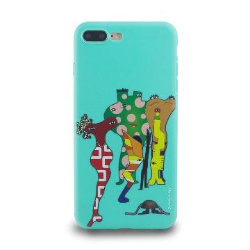 iPhone 7 Plus-小資族淺浮雕保護背套_春綠色