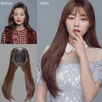 【MW357】全新設計U型半罩式半頂假髮 韓系女神微彎 直髮 逼真自然☆雙兒網☆