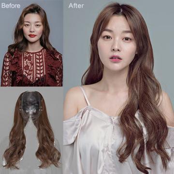 【MW356】全新設計U型半罩式半頂假髮 韓系浪漫大捲長髮 逼真自然☆雙兒網☆