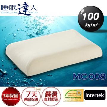 【睡眠達人】MC-008恆溫親水性記憶綿枕頭,冬季不變硬、夏季不塌陷、不悶熱、釋壓、抗菌、防螨(1入)