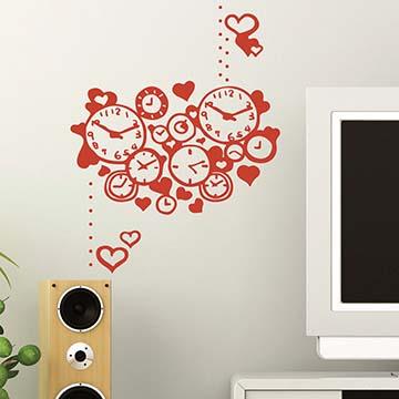 Smart Design 創意無痕壁貼◆多少時間的愛