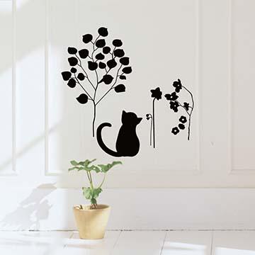 Smart Design 創意無痕壁貼◆悠閒的貓