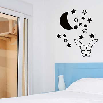 Smart Design 創意無痕壁貼◆月之魔法