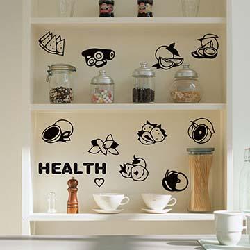 Smart Design 創意無痕壁貼◆新鮮的水果