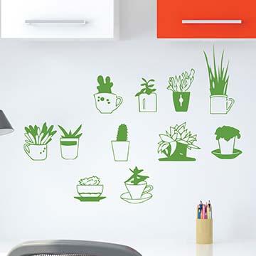 Smart Design 創意無痕壁貼◆輕鬆小盆栽